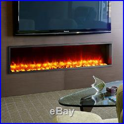 Dynasty Fireplaces 63 Built-in LED Wall Mount Electric Fireplace Insert