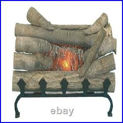 ELECTRIC FIREPLACE LOGS Fake Wood Burning Insert Crackling Glowing Decor withGrate