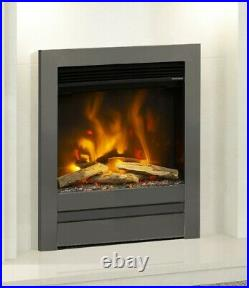 ELECTRIC INSET FIRE MODERN LED FLAME REMOTE ELGIN & HALL PRYZM 16 EDGE TRIM 2kW