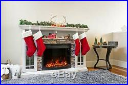 E-Flame USA Edmonton 28-inch Curved LED Electric Fireplace Stove Insert with Rem