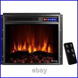 E-Flame USA Jackson 25x21 LED Electric Fireplace Stove Insert Remote 3D Logs