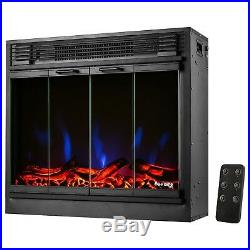 E-Flame USA Montreal LED Electric Fireplace Stove Insert Remote Control 26-in
