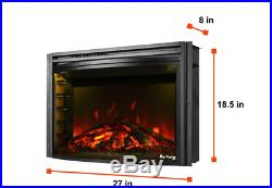 E-Flame USA Quebec 27-inch Electric Fireplace Stove Insert with Remote 3-D