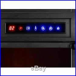E-Flame USA Whistler 28x24 LED Electric Fireplace Stove Insert Remote 3D Logs