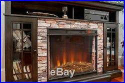 E-Flame USA Whistler 28x24 LED Electric Fireplace Stove Insert with Remote 3