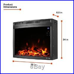 Edmonton LED Electric Fireplace Stove Insert Curved by e-Flame USA 28-inches