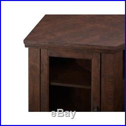 Electric Corner Fireplace Entertainment Center TV Stand withFireplace Insert Brown