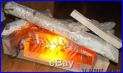 Electric Fire Place Lighted Insert Looks like Real Logs (EUC)