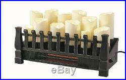 Electric Fireplace 20 in. Candle Insert With Infrared Heater Automatic Shut-Off