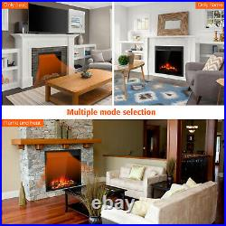 Electric Fireplace 22.5 Insert Freestanding & Recessed Heater Log Flame Remote