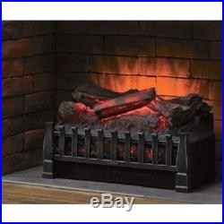Electric Fireplace 4600 BTU Insert Artificial Heater Log Portable Black LED Log