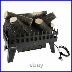 Electric Fireplace Fake Log Insert LED Glowing Effect Energy Efficient Heating