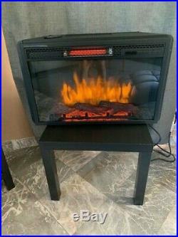 Electric Fireplace Firebox Insert w Fan Heater & Infared Glowing Logs 27.71 Inch