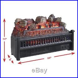 Electric Fireplace Heater Grate Logs Insert Set Blower Fan Remote Ventless Flame
