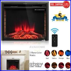 Electric Fireplace Heater Insert Embedded Wall Mount Stand with Remote Control