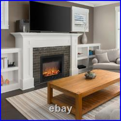 Electric Fireplace Heater Insert Wall Mount Stand with Remote Control 1500W Safe