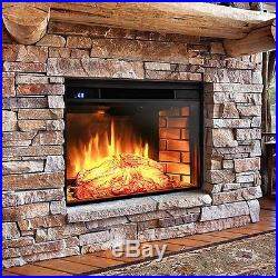 Electric Fireplace Heater Replacement Insert Small Portable Blower Embedded