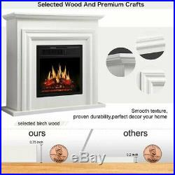 Electric Fireplace Heater Stove Flame Infrared Wall Space Remote Insert Mount Lo