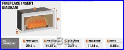 Electric Fireplace Insert 20 In Candle Infrared Heater Energy Efficient Ventless