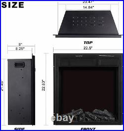 Electric Fireplace Insert 22.5 Freestanding Heater