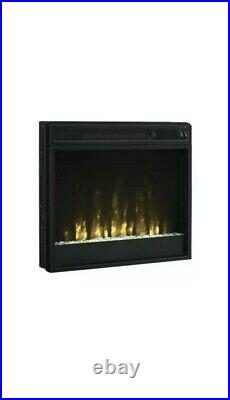 Electric Fireplace Insert (23-inch) complete with Logset and Crystals (A-28)