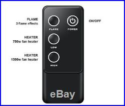 Electric Fireplace Insert 33 In Portable Firebox Embedded Heater Remote Control