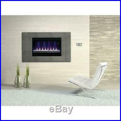 Electric Fireplace Insert 36 in. 1500-Watt Adjustable Flame Colors-Thermostat