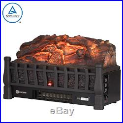 Electric Fireplace Insert Artificial LED Heater Log + Infrared Remote Controller