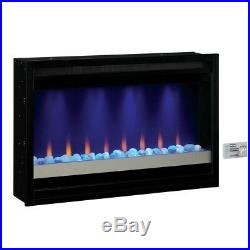 Electric Fireplace Insert Built-in Contemporary LED Burning Flame Effect 36 in