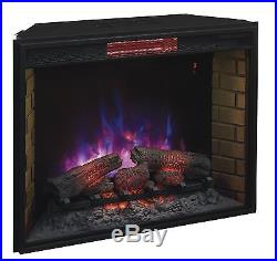 Electric Fireplace Insert ClassicFlame 33 Inch Infrared Quartz with Safe Plug