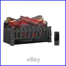 Electric Fireplace Insert Decorative Log Ventless Heater Wood Burn Flame Remote