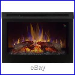 Electric Fireplace Insert Firebox Heater 25-Inch Programmable Thermostat Remote