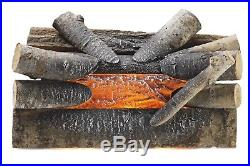 Electric Fireplace Insert Hearth 20 Heater Crackling Natural Wood Log Flameless