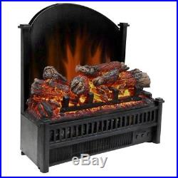 Electric Fireplace Insert Heat Log Remote Control Fan Set Adjustable Thermostat