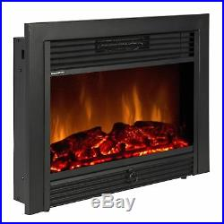 Electric Fireplace Insert Heater Log Flame 28.5 With Fire Crackler Sound System