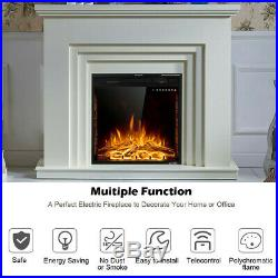 Electric Fireplace Insert Heater Recessed Wall Mounted Remote control 26