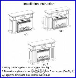 Electric Fireplace Insert Heater Remote Control Home Furniture Accessories NEW