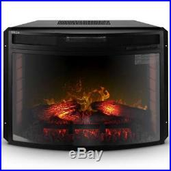 Electric Fireplace Insert Heater with Remote Control Wall Mount Flame 1400W