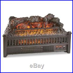 Electric Fireplace Insert Logs 23 In Heater Energy Efficient LED Fan Ventless US