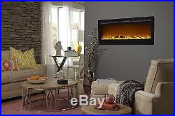 Electric Fireplace Insert Touchstone Sideline In-Wall Recessed 50 Inch