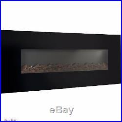 Electric Fireplace Insert Wall Mount Indoor Heater Modern Smokeless Ventless NEW