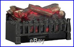 Electric Fireplace Insert With Heater Duraflame Fake Wood Log Set Bed Portable