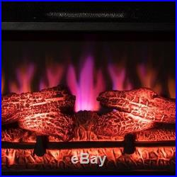 Electric Fireplace Insert colorful Illuminating Flames Indoor Outdoor Heater