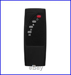 Electric Fireplace Log Heater Fake Artificial Flame Inserts Remote Control Set