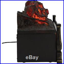 Electric Fireplace Log Insert 20 Heater Fan Energy Efficient Grate Real Flame