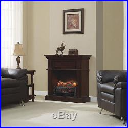 Electric Fireplace Log Insert Decorative Ventless Heater Wood Burn Flame Remote