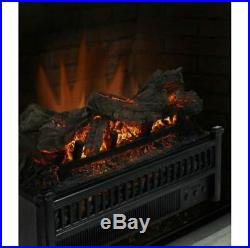 Electric Fireplace Log Set Heater Retrofit Flame Remote Heat Insert LED Fire Fan