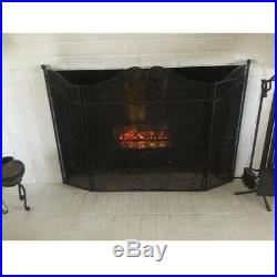 Electric Fireplace Logs Heater Log Set Insert Realistic Flame LED Remote Control
