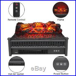 Electric Fireplace Logs Heater Realistic Flame Hearth Insert Wood Crackling Fire