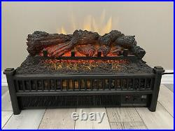 Electric Fireplace Logs Insert With Heater Fan Remote Comfort Realistic Flames